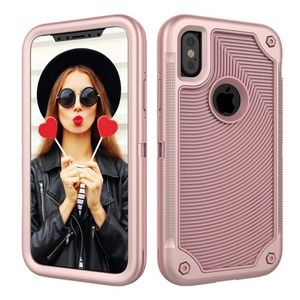 iPhone X XS Case Pink Cover Heavy Duty NWT